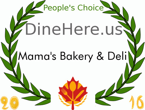 Peoples Choice Award 2016 | Mama's Bakery & Deli